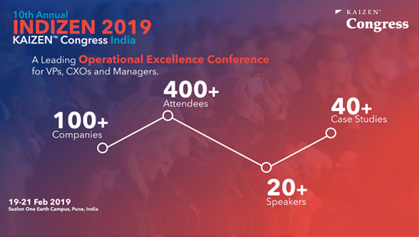 Kaizen Institute India hosts 400+ Elite Operational Excellence Pioneers and Practitioners under one Roof on 19th – 21st Feb 2019