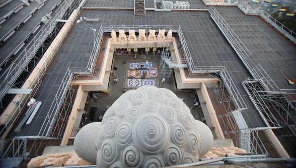 Scaffolding by Layher for mahamastakabhisheka