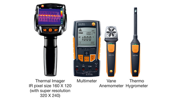 Testo 868 thermal imager with other Smart Instruments