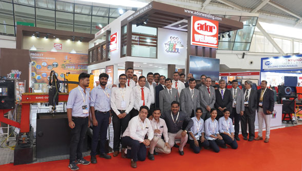 Ador Welding showcased products at WELDINDIA