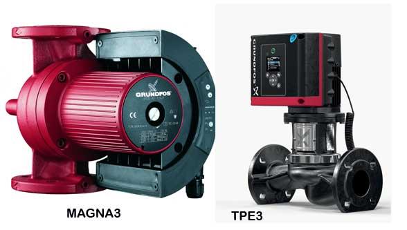 Grundfos MAGNA3 & TPE3 pumps