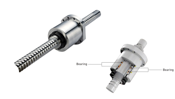 Superslides ground ballscrews with rotary nut