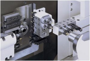 The ESPRIT machine tool used to machine the ventilator parts.