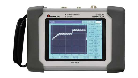 AMADA's MM-410A Handheld resistance weld checker