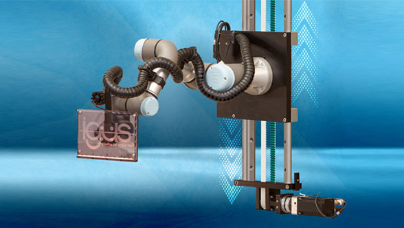 A robot's range quickly extended with 7th axis from igus